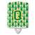 Buy this Letter Q Football Green and Gold Ceramic Night Light CJ1069-QCNL