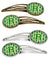 Buy this Letter R Football Green and Gold Set of 4 Barrettes Hair Clips CJ1069-RHCS4