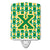 Letter X Football Green and Gold Ceramic Night Light CJ1069-XCNL by Caroline's Treasures
