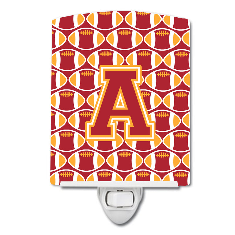 Buy this Letter A Football Cardinal and Gold Ceramic Night Light CJ1070-ACNL