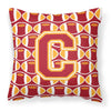 Letter C Football Cardinal and Gold Fabric Decorative Pillow CJ1070-CPW1414 by Caroline's Treasures