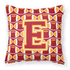Letter E Football Cardinal and Gold Fabric Decorative Pillow CJ1070-EPW1414 by Caroline's Treasures