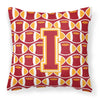 Letter I Football Cardinal and Gold Fabric Decorative Pillow CJ1070-IPW1414 by Caroline's Treasures