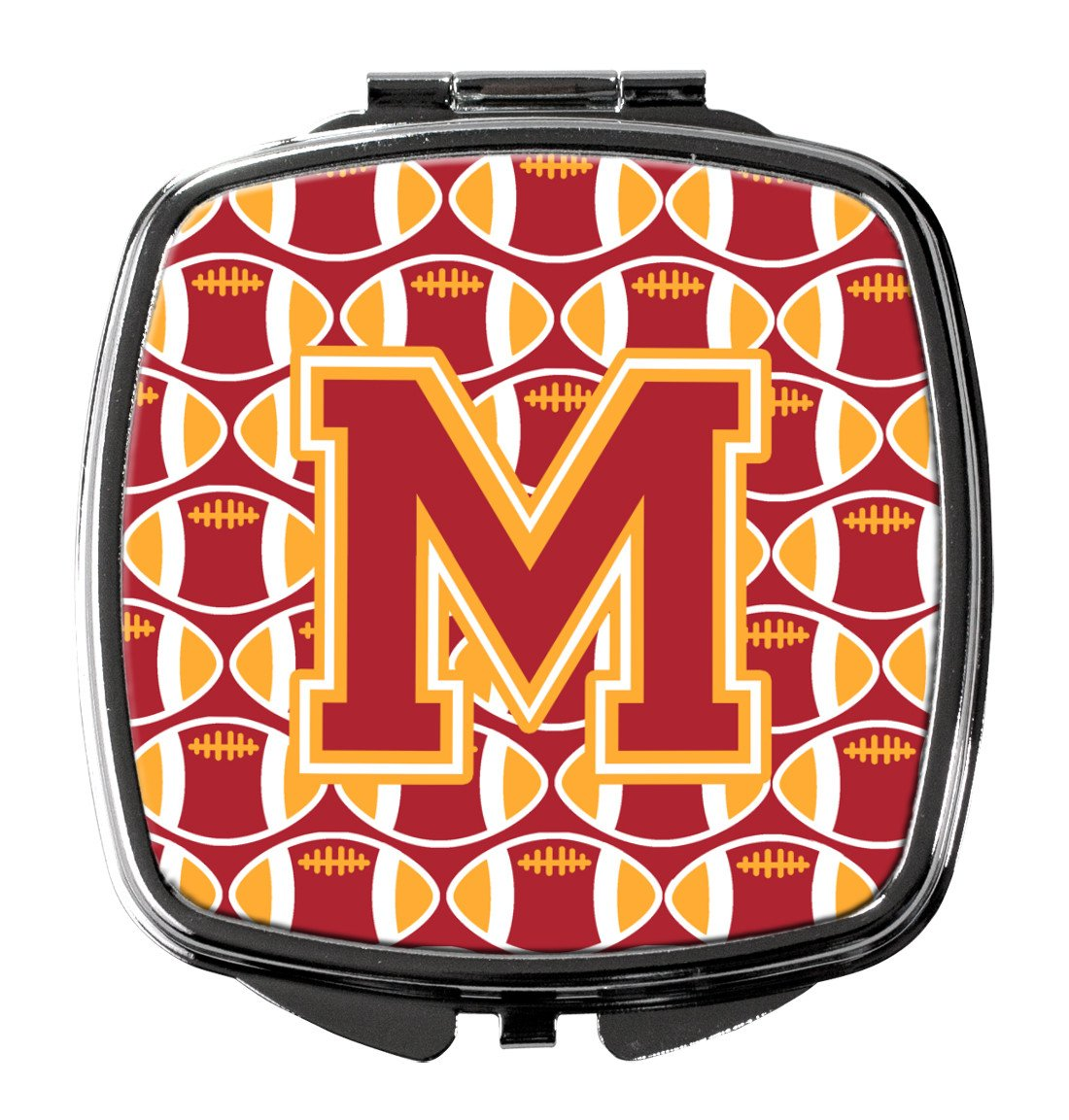 Letter M Football Cardinal and Gold Compact Mirror CJ1070-MSCM by Caroline's Treasures