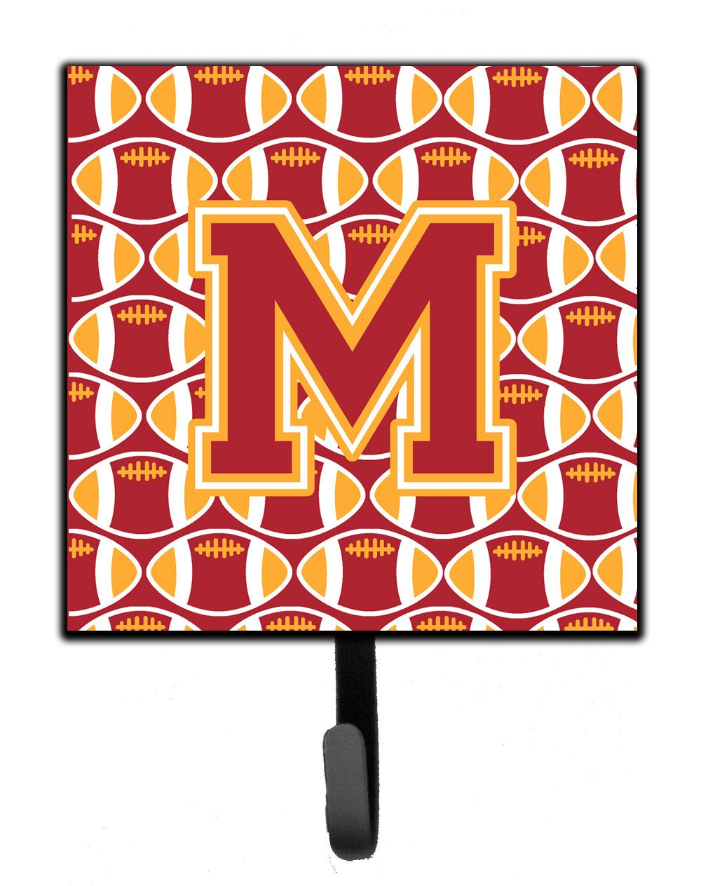 Letter M Football Cardinal and Gold Leash or Key Holder CJ1070-MSH4 by Caroline's Treasures