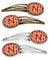 Buy this Letter N Football Cardinal and Gold Set of 4 Barrettes Hair Clips CJ1070-NHCS4