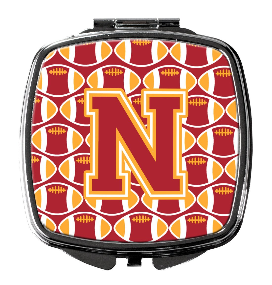 Letter N Football Cardinal and Gold Compact Mirror CJ1070-NSCM by Caroline's Treasures