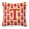 Letter T Football Cardinal and Gold Fabric Decorative Pillow CJ1070-TPW1414 by Caroline's Treasures