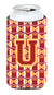 Buy this Letter U Football Cardinal and Gold Tall Boy Beverage Insulator Hugger CJ1070-UTBC