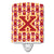 Buy this Letter X Football Cardinal and Gold Ceramic Night Light CJ1070-XCNL