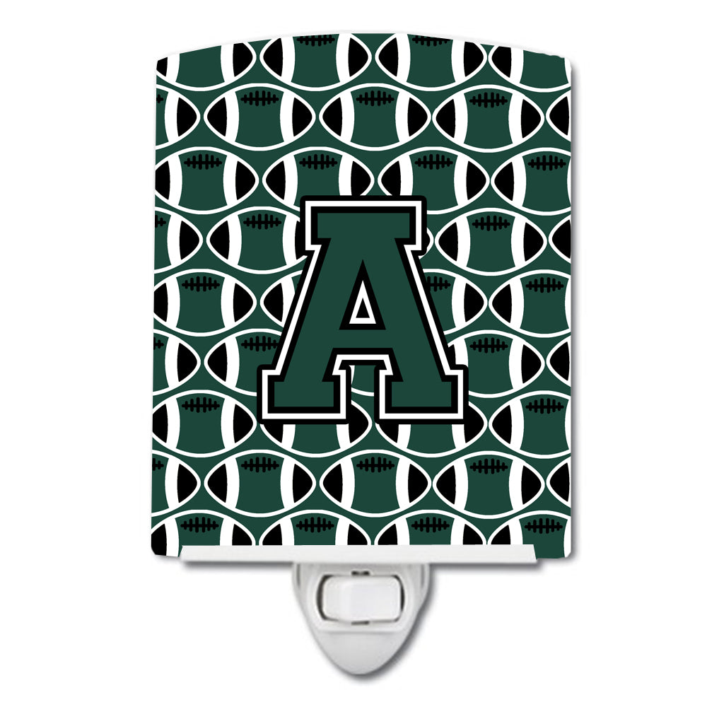 Buy this Letter A Football Green and White Ceramic Night Light CJ1071-ACNL
