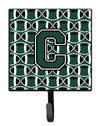 Letter C Football Green and White Leash or Key Holder CJ1071-CSH4 by Caroline's Treasures