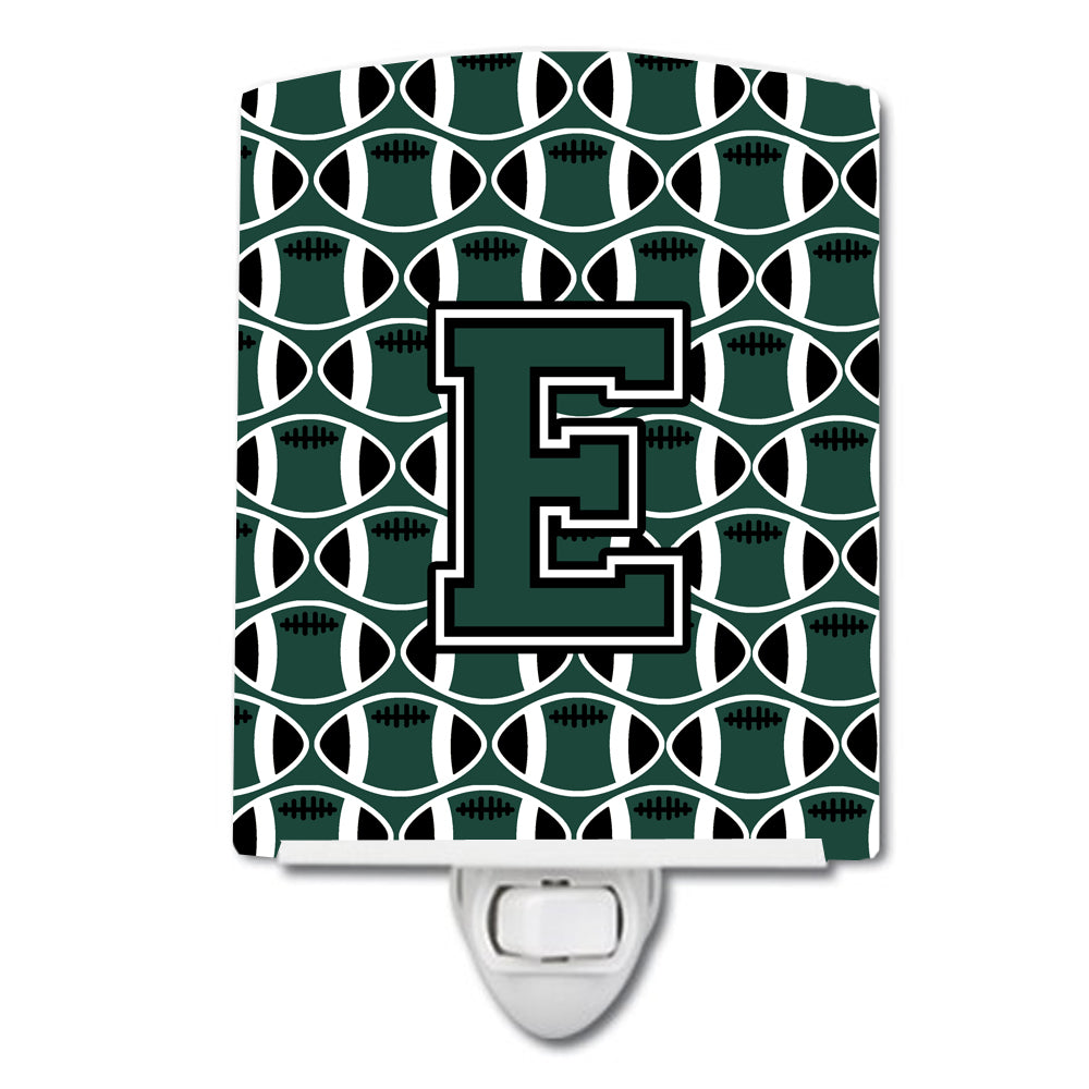 Buy this Letter E Football Green and White Ceramic Night Light CJ1071-ECNL