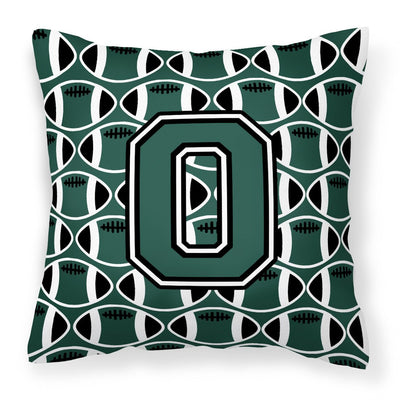 Buy this Letter O Football Green and White Fabric Decorative Pillow CJ1071-OPW1414