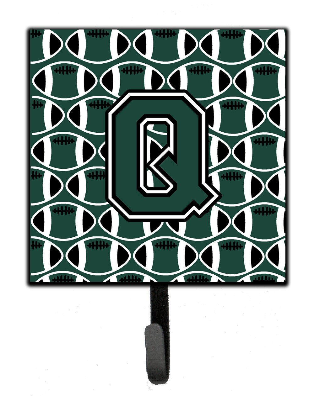 Letter Q Football Green and White Leash or Key Holder CJ1071-QSH4 by Caroline's Treasures