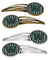 Buy this Letter W Football Green and White Set of 4 Barrettes Hair Clips CJ1071-WHCS4
