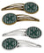 Buy this Letter X Football Green and White Set of 4 Barrettes Hair Clips CJ1071-XHCS4