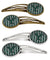 Buy this Letter Y Football Green and White Set of 4 Barrettes Hair Clips CJ1071-YHCS4