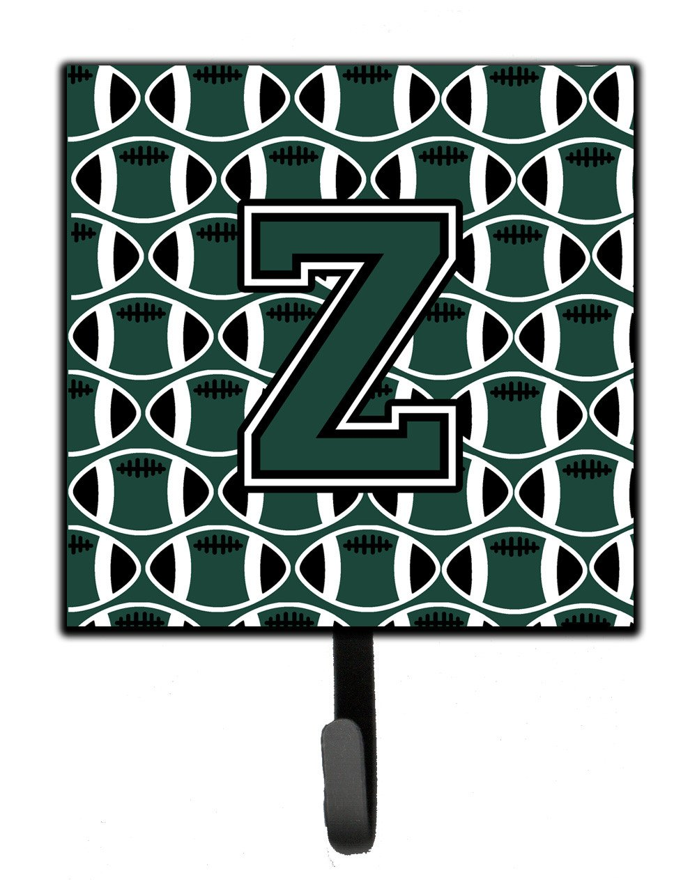 Letter Z Football Green and White Leash or Key Holder CJ1071-ZSH4 by Caroline's Treasures