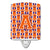 Buy this Letter A Football Orange, White and Regalia Ceramic Night Light CJ1072-ACNL
