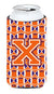 Letter X Football Orange, White and Regalia Tall Boy Beverage Insulator Hugger CJ1072-XTBC by Caroline's Treasures