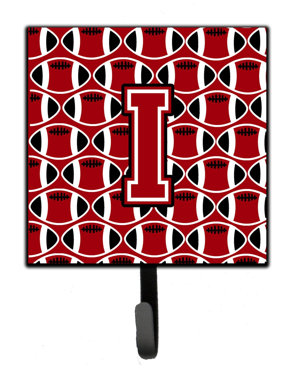Letter I Football Red, Black and White Leash or Key Holder CJ1073-ISH4 by Caroline's Treasures