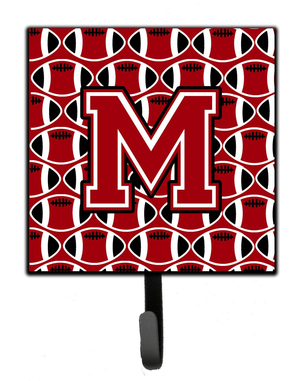 Letter M Football Red, Black and White Leash or Key Holder CJ1073-MSH4 by Caroline's Treasures