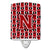Buy this Letter N Football Red, Black and White Ceramic Night Light CJ1073-NCNL