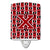 Buy this Letter X Football Red, Black and White Ceramic Night Light CJ1073-XCNL