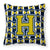 Buy this Letter H Football Blue and Gold Fabric Decorative Pillow CJ1074-HPW1414