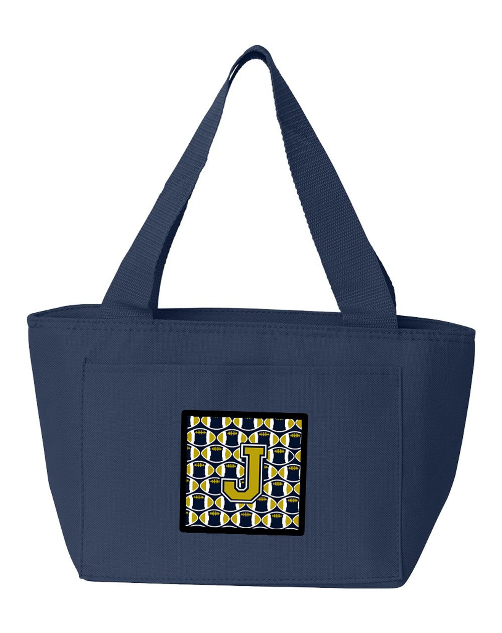 Letter J Football Blue and Gold Lunch Bag CJ1074-JNA-8808 by Caroline's Treasures