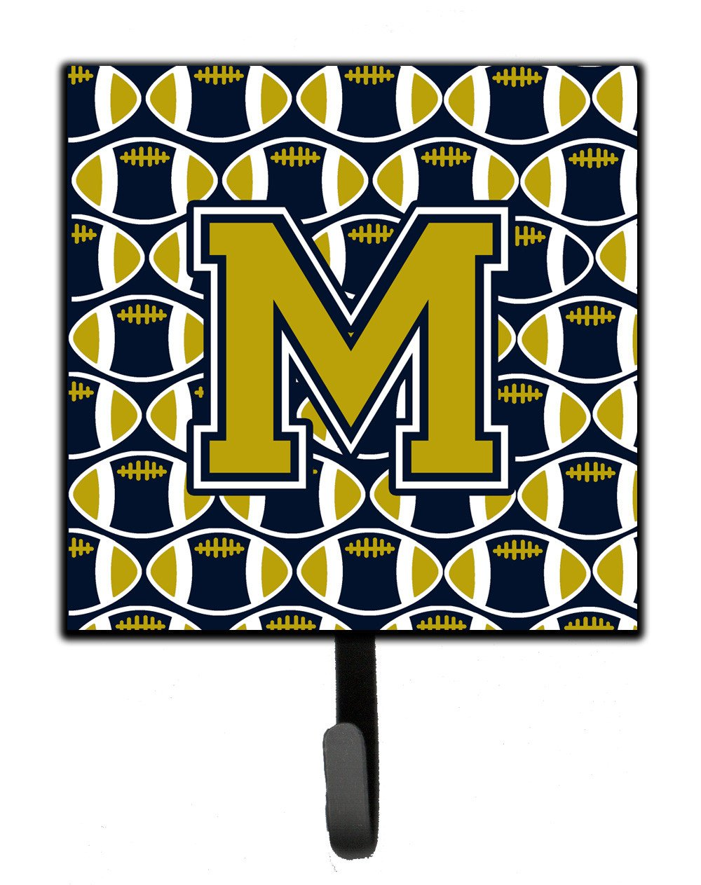 Letter M Football Blue and Gold Leash or Key Holder CJ1074-MSH4 by Caroline's Treasures