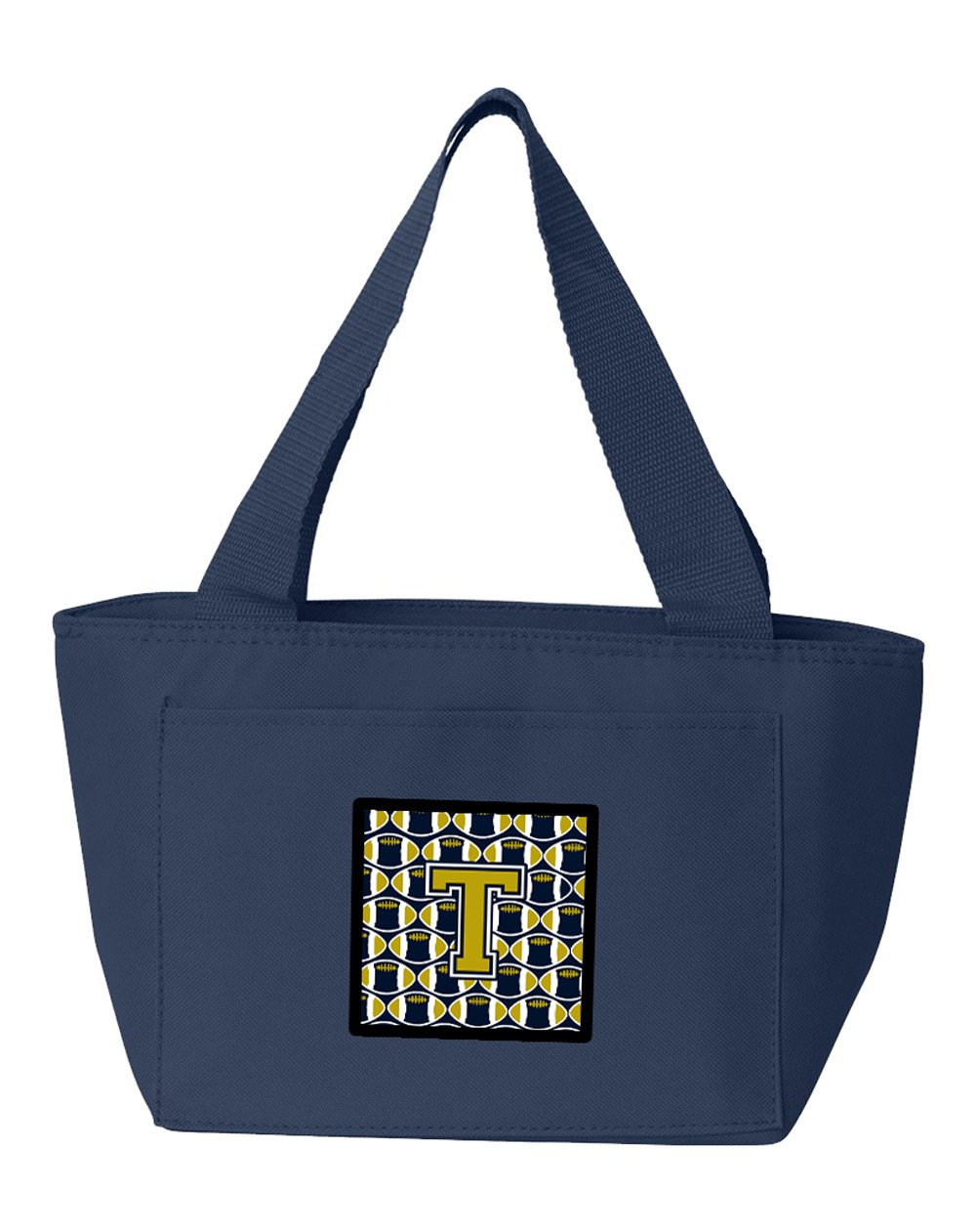 Letter T Football Blue and Gold Lunch Bag CJ1074-TNA-8808 by Caroline's Treasures