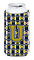 Buy this Letter U Football Blue and Gold Tall Boy Beverage Insulator Hugger CJ1074-UTBC