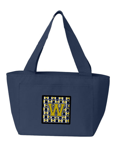 Buy this Letter W Football Blue and Gold Lunch Bag CJ1074-WNA-8808