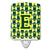 Buy this Letter E Football Green and Yellow Ceramic Night Light CJ1075-ECNL