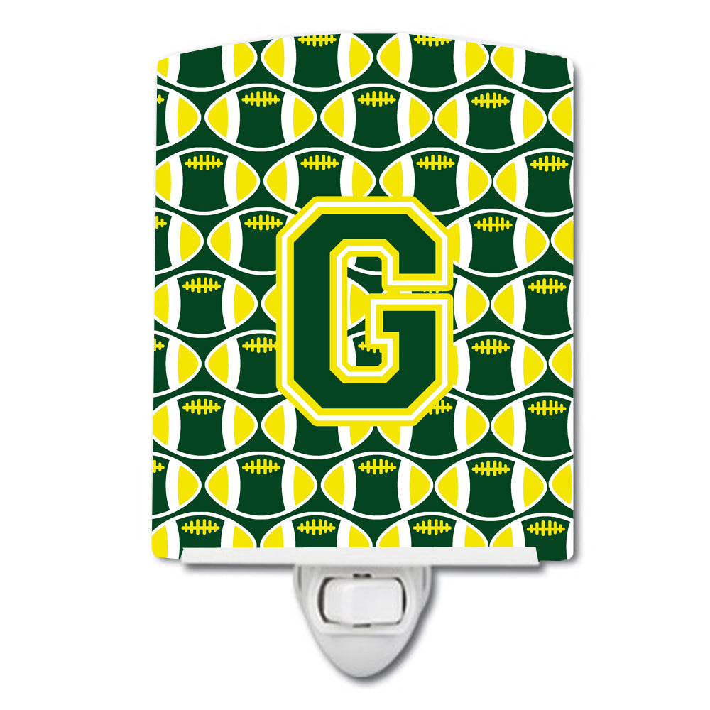 Buy this Letter G Football Green and Yellow Ceramic Night Light CJ1075-GCNL