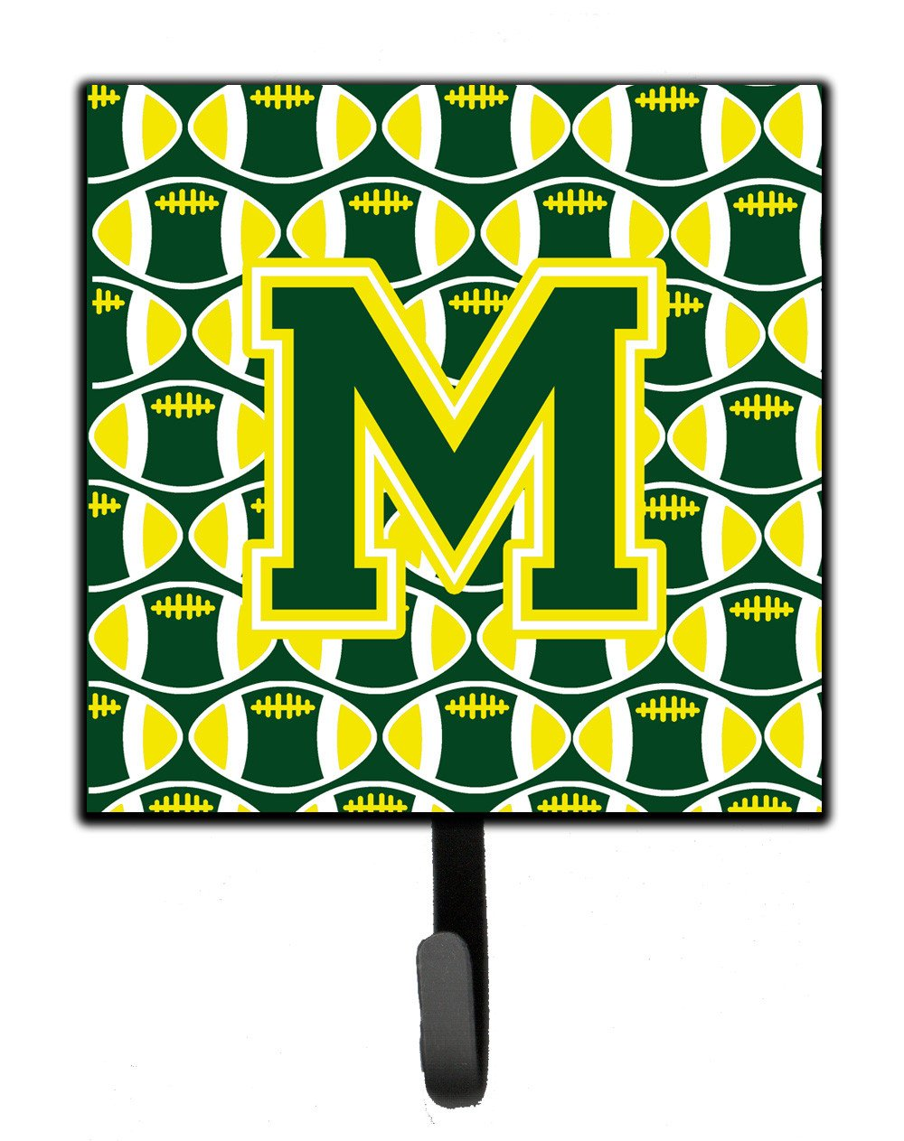 Letter M Football Green and Yellow Leash or Key Holder CJ1075-MSH4 by Caroline's Treasures