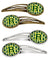 Buy this Letter R Football Green and Yellow Set of 4 Barrettes Hair Clips CJ1075-RHCS4