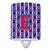 Buy this Letter E Football Harvard Crimson and Yale Blue Ceramic Night Light CJ1076-ECNL