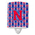 Buy this Letter N Football Harvard Crimson and Yale Blue Ceramic Night Light CJ1076-NCNL