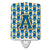 Buy this Letter A Football Blue and Gold Ceramic Night Light CJ1077-ACNL