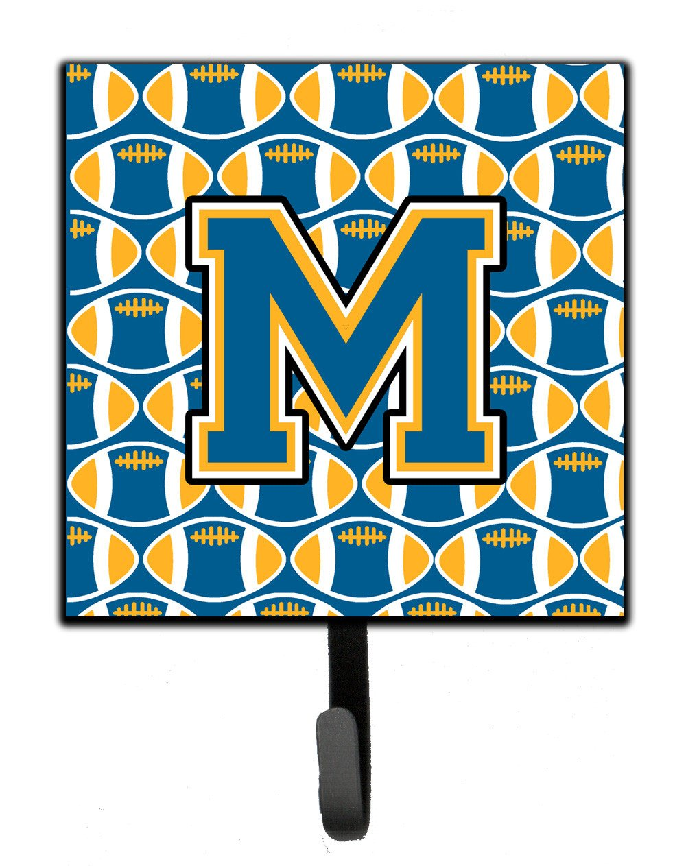 Letter M Football Blue and Gold Leash or Key Holder CJ1077-MSH4 by Caroline's Treasures