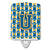 Buy this Letter U Football Blue and Gold Ceramic Night Light CJ1077-UCNL