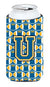 Buy this Letter U Football Blue and Gold Tall Boy Beverage Insulator Hugger CJ1077-UTBC