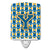 Buy this Letter Y Football Blue and Gold Ceramic Night Light CJ1077-YCNL