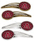 Buy this Letter A Football Garnet and Gold Set of 4 Barrettes Hair Clips