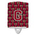 Buy this Letter G Football Garnet and Gold Ceramic Night Light CJ1078-GCNL