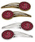 Buy this Letter J Football Garnet and Gold Set of 4 Barrettes Hair Clips CJ1078-JHCS4