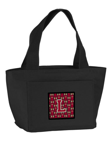 Buy this Letter L Football Garnet and Gold Lunch Bag CJ1078-LBK-8808
